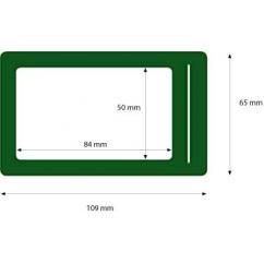 Portabadge verde scuro