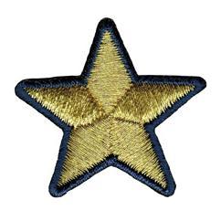 Stella oro bordo blu