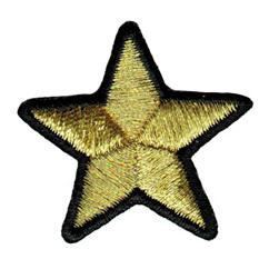 Stella oro bordo nero