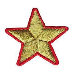 Stella oro bordo rosso